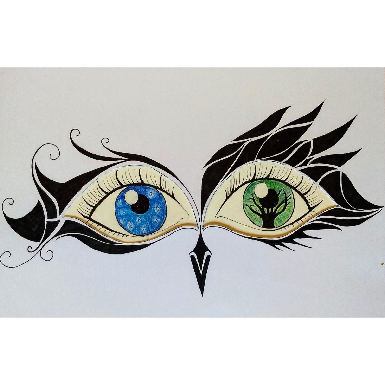 andermans ogen tekening