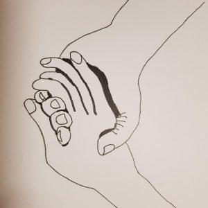 liefde of vriendschap handen tekening